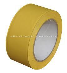tanzboden klebeband gelb 33m x 50mm dance floor tape weich pvc band ebay. Black Bedroom Furniture Sets. Home Design Ideas