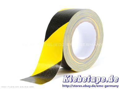 gewebe warn klebeband 50mm x 25m gaffa qualit t schwarz gelb klebt sehr stark ebay. Black Bedroom Furniture Sets. Home Design Ideas