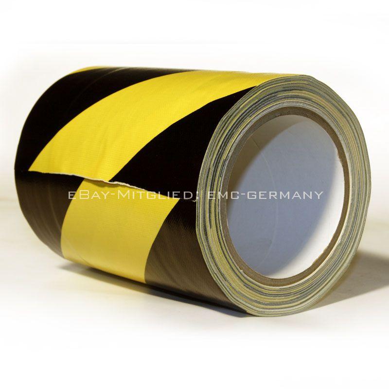 tunnel tape 150mm x 25 meter gewebe klebeband schwarz gelb gaffa tunnelband ebay. Black Bedroom Furniture Sets. Home Design Ideas