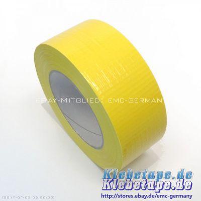 panzertape gelb 48mm x 50m packband gewebeband reparaturband wasserdicht ebay. Black Bedroom Furniture Sets. Home Design Ideas