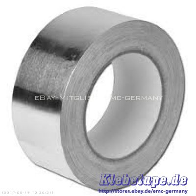 rein aluminium klebeband 50mm x 10 m aluminiumband isolieren ummanteln abkleben ebay. Black Bedroom Furniture Sets. Home Design Ideas