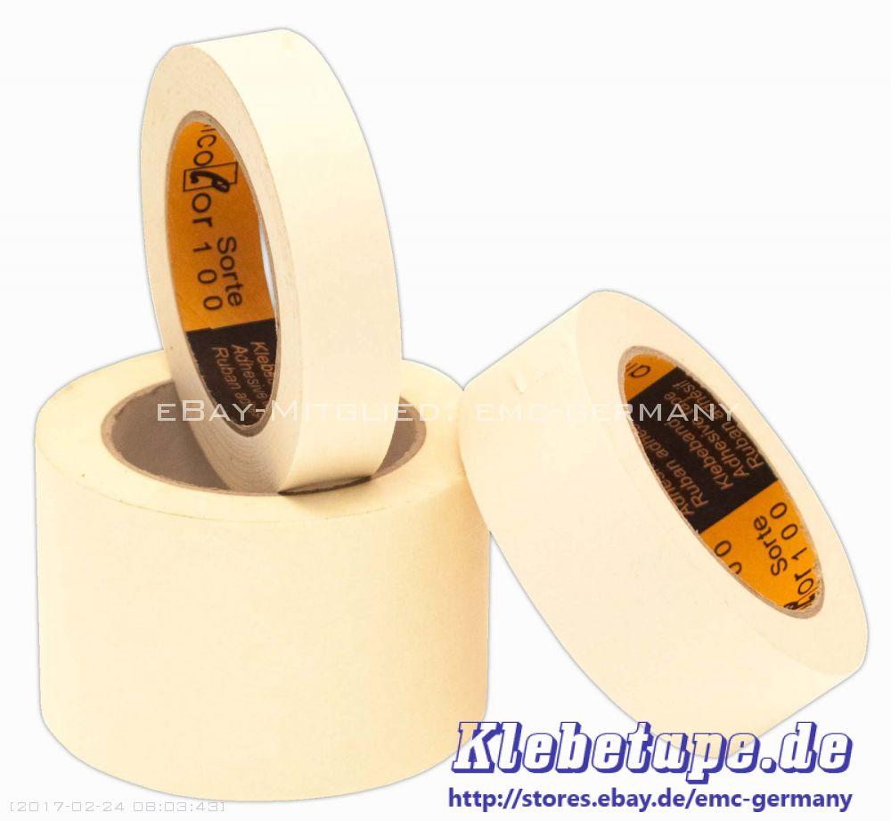 profi feinkrepp klebeband 50m extra crep 80 c hitzebest ndiges malerband tape ebay. Black Bedroom Furniture Sets. Home Design Ideas