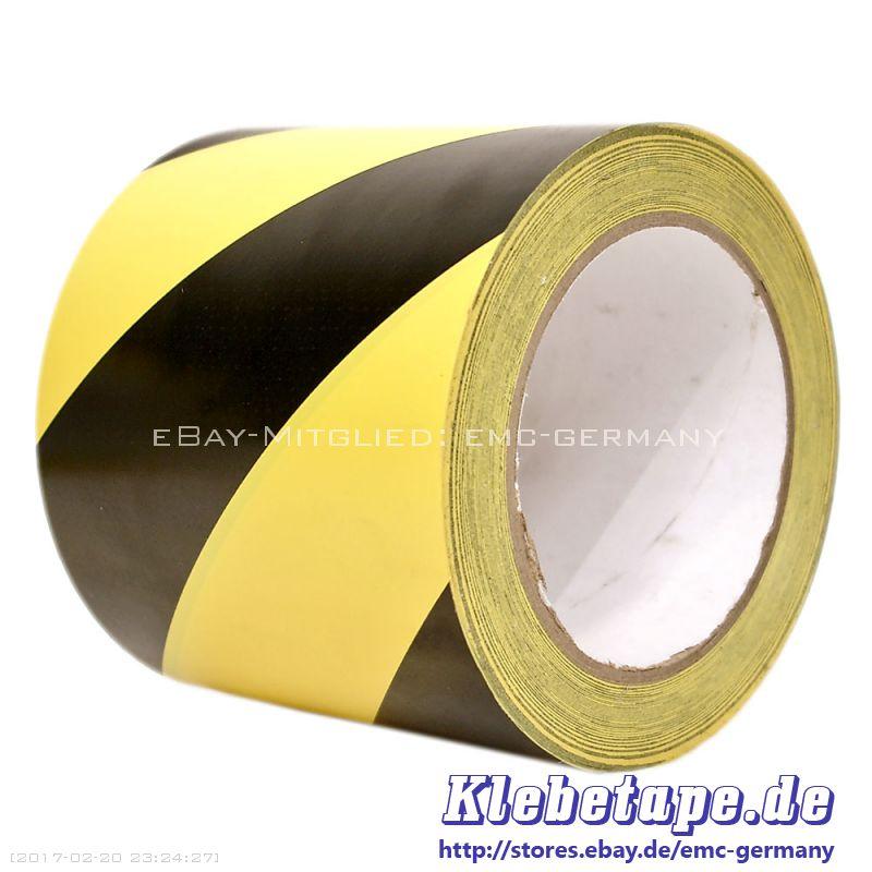warnband gelb schwarz 100mm x 33m selbstklebend pvc. Black Bedroom Furniture Sets. Home Design Ideas