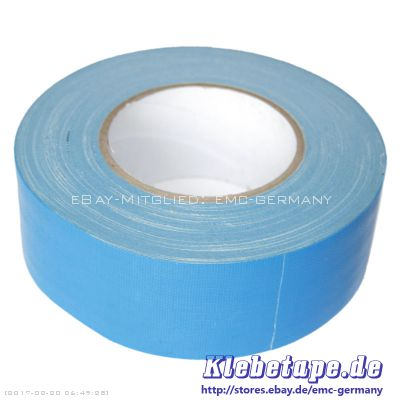 gewebeband hellblau 50m x 50mm gaffa tape 0 28 mm dick wasserdicht ebay. Black Bedroom Furniture Sets. Home Design Ideas