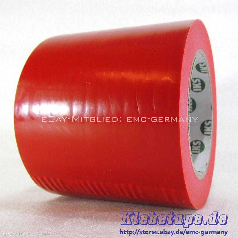 dickes weich pvc klebeband rot 100mm x 33m markierungsband bodenmarkierung. Black Bedroom Furniture Sets. Home Design Ideas
