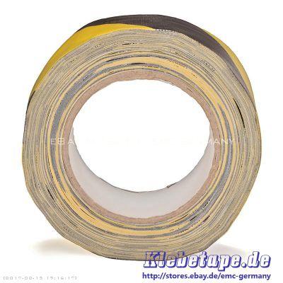 gewebe warn klebeband 50mm x 25m gaffa qualit t schwarz gelb stark klebend ebay. Black Bedroom Furniture Sets. Home Design Ideas
