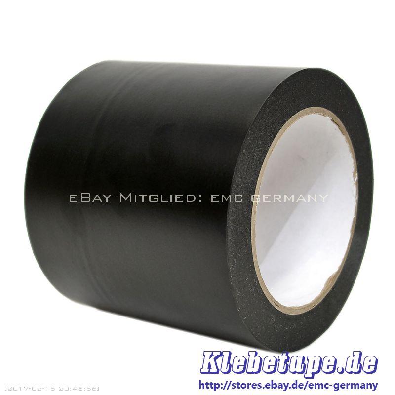 weich pvc klebeband 100mm x 33m schwarz abkleben markieren isolieren ebay. Black Bedroom Furniture Sets. Home Design Ideas