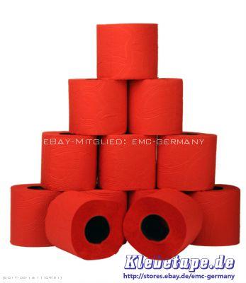 8x 4 stores papier toilette rouge 3 couches de p te marqu rouleau ebay - Rouleau papier toilette ...