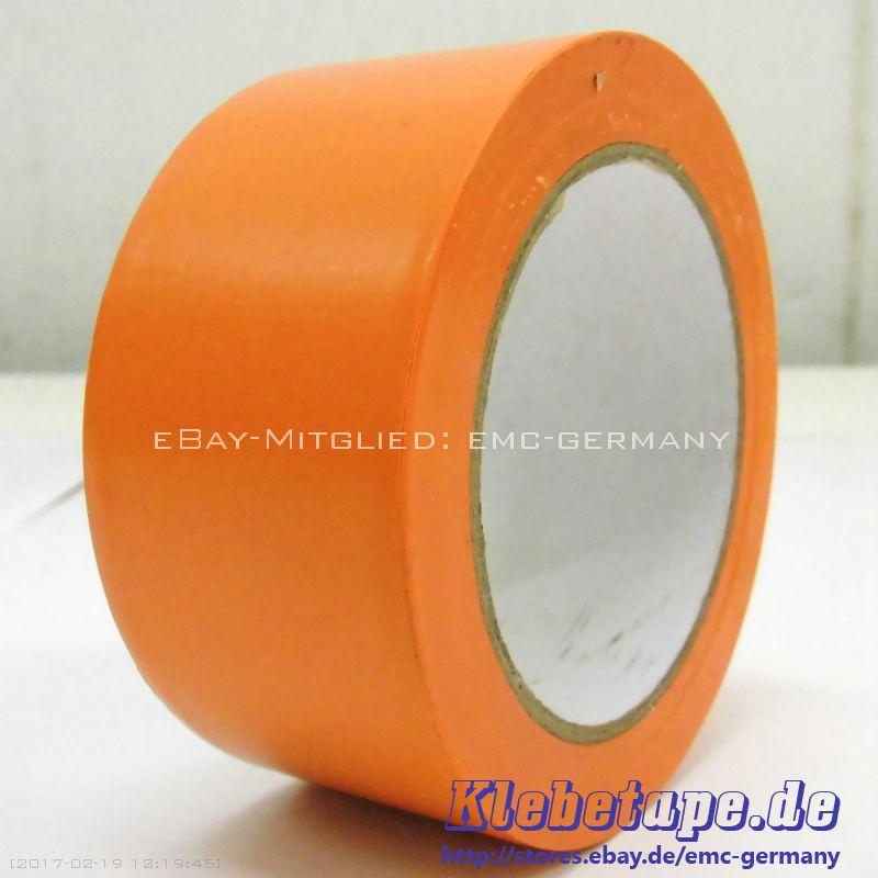 pvc klebeband orange 50mm x 33m schutzband makierungs abklebeband weich pvc ebay. Black Bedroom Furniture Sets. Home Design Ideas